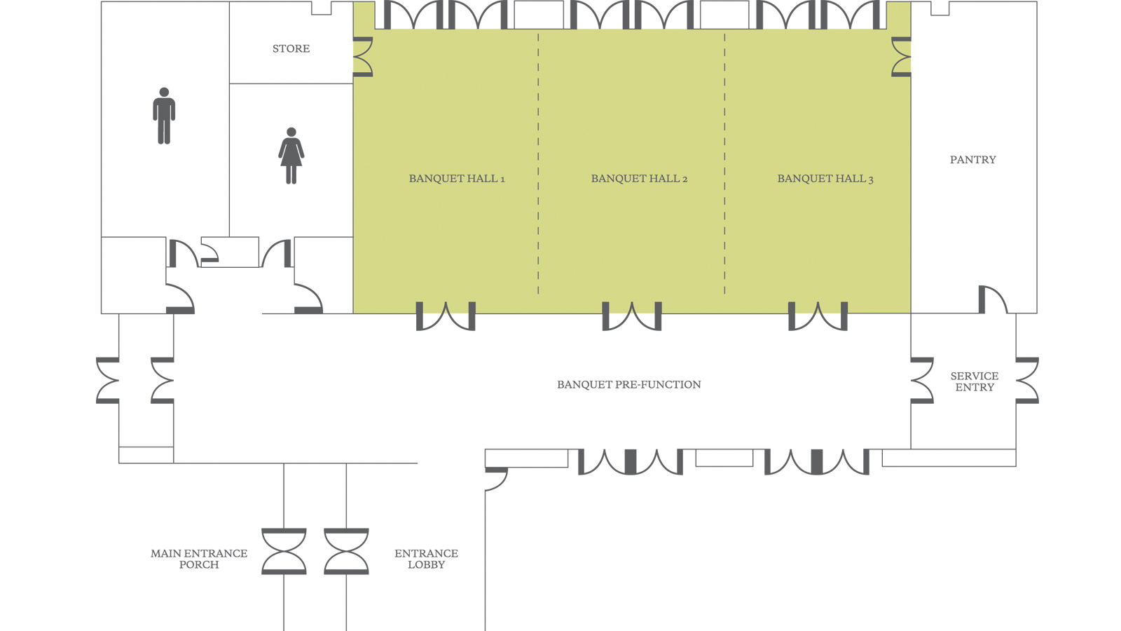 Meetings at the westin sohna resort and spa for Banquet floor plan template